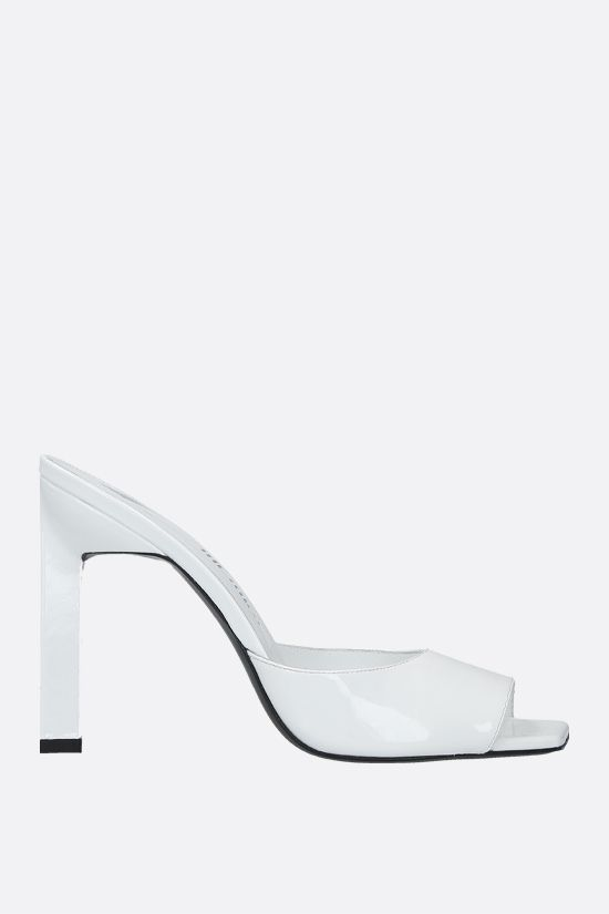 THE ATTICO: Kaia patent leather mule sandals Color White_1