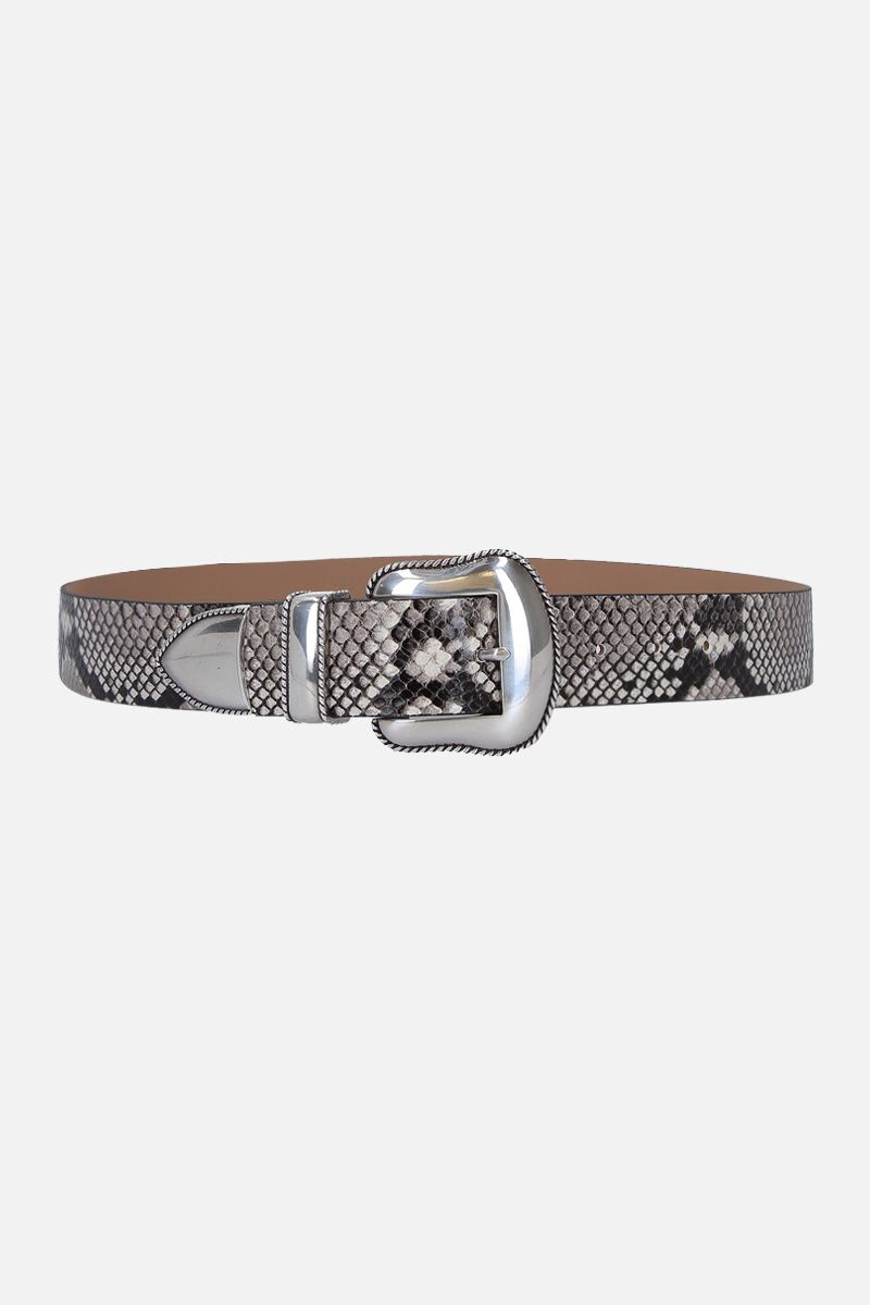 B-LOW THE BELT: cintura Villain in pelle a stampa pitone Colore Animalier_1