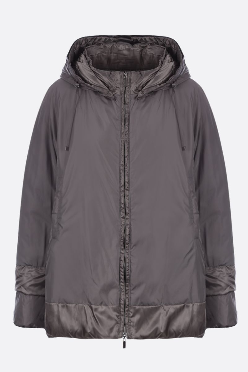 MAX MARA THE CUBE: 9CC down jacket in iridescent satin Color Silver_2
