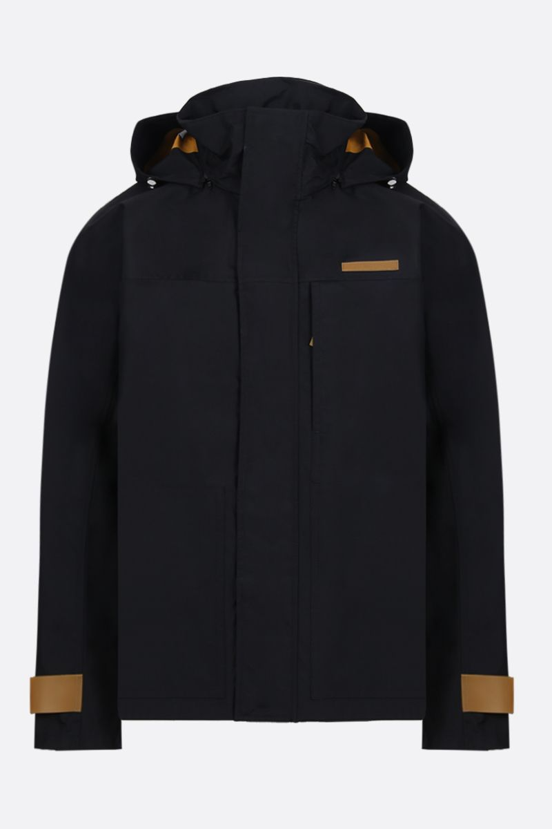 HELMUT LANG: technical fabric windbreaker Color Black_1