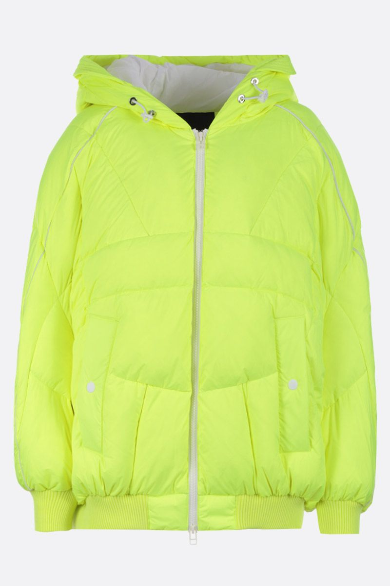 CHEN PENG: oversized down jacket in technical fabric Color Yellow_1