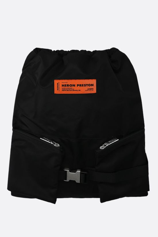 HERON PRESTON: nylon gym bag Color Black_1