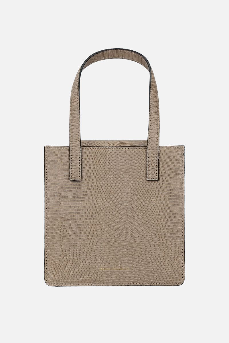 MARGESHERWOOD: Grandma lizard-embossed leather handbag Color Neutral_1