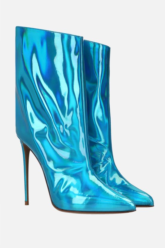ALEXANDRE VAUTHIER: Alex hologram fabric ankle boots Color Blue_2