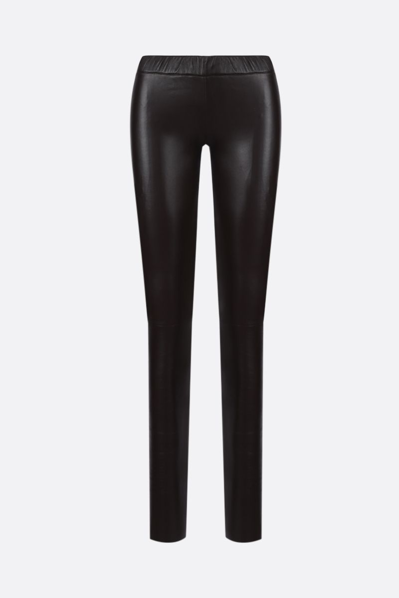 SYLVIE SCHIMMEL: Fun stretch nappa leggings Color Brown_1