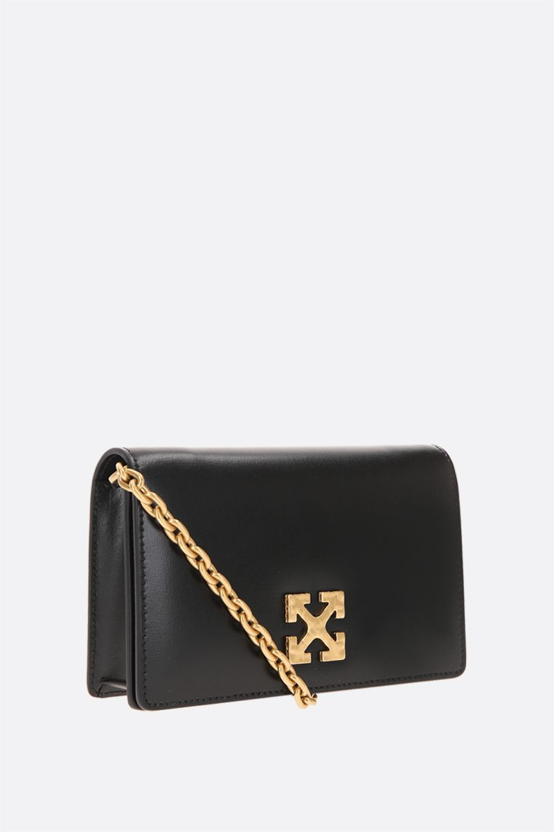 OFF WHITE: Jitney 0.5 smooth leather crossbody bag Color Black_2