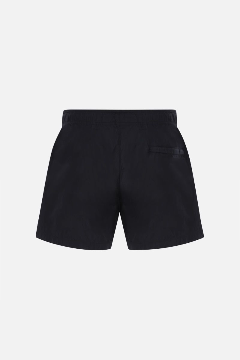 OFF WHITE: OW Logo nylon swimshorts Color Black_2