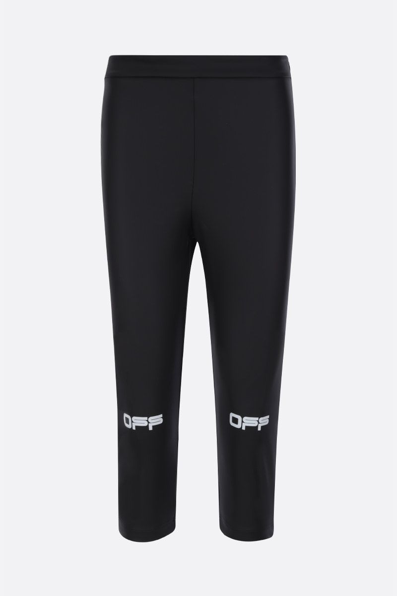 OFF WHITE: Active coated canvas cropped pants Color Black_1