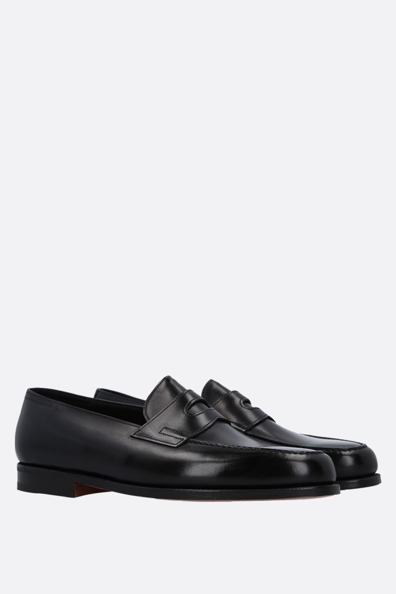 JOHN LOBB: Lopez loafers in Museum leather Color Black_2