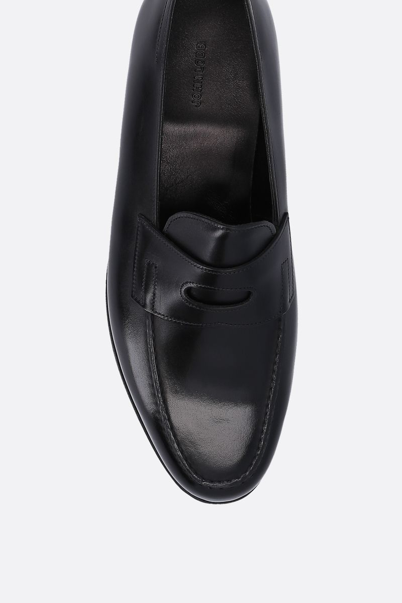 JOHN LOBB: Lopez loafers in Museum leather Color Black_4