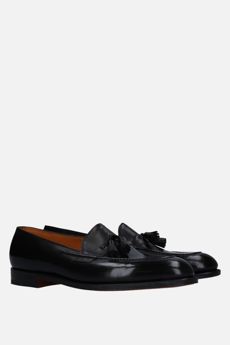 JOHN LOBB: Truro loafers in brushed calf Color Black_2