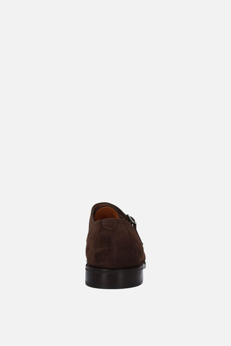 JOHN LOBB: William monk strap shoes in suede Color Brown_3