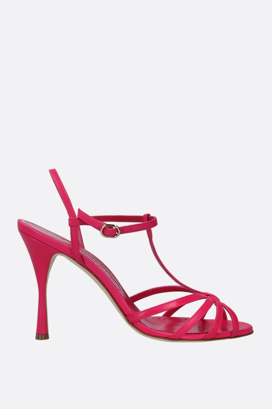 MANOLO BLAHNIK: Marana nappa sandals Color Pink_1