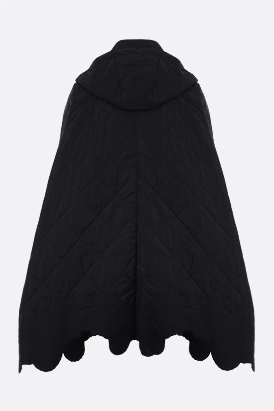CECILIE BAHNSEN: Lake nylon padded cape Color Black_2