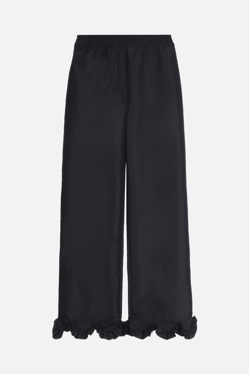 CECILIE BAHNSEN: Vinnie faille wide-leg pants Color Black_1