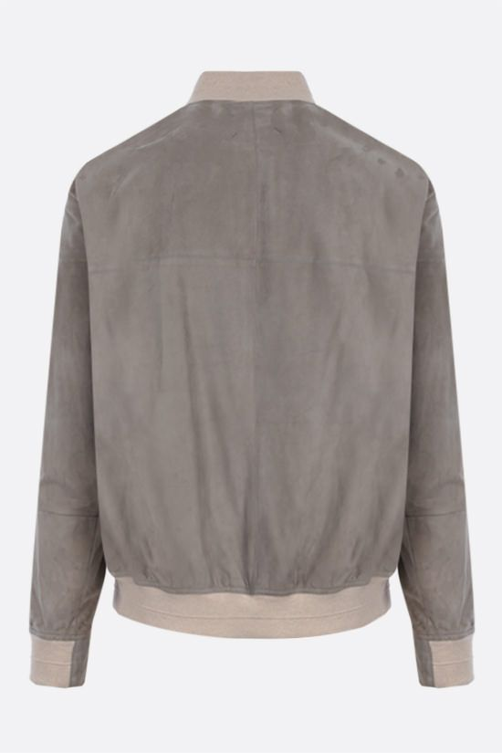 BRUNELLO CUCINELLI: soft suede bomber jacket Color Brown_2