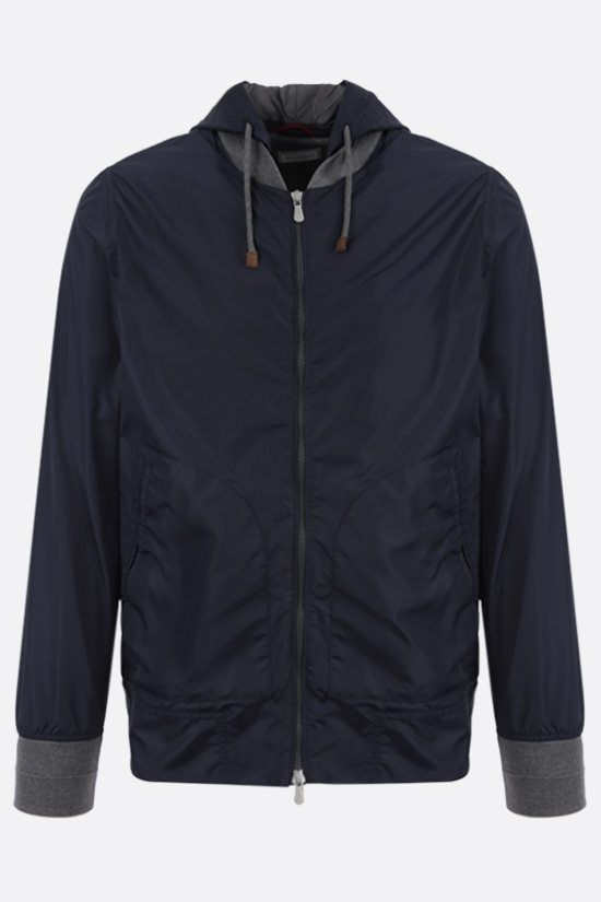 BRUNELLO CUCINELLI: nylon bomber jacket Color Blue_1