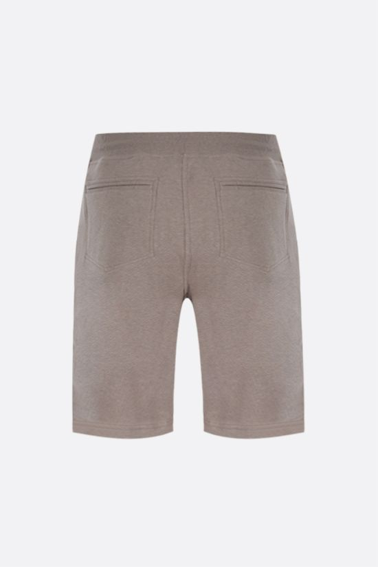 BRUNELLO CUCINELLI: cotton blend shorts Color Brown_2