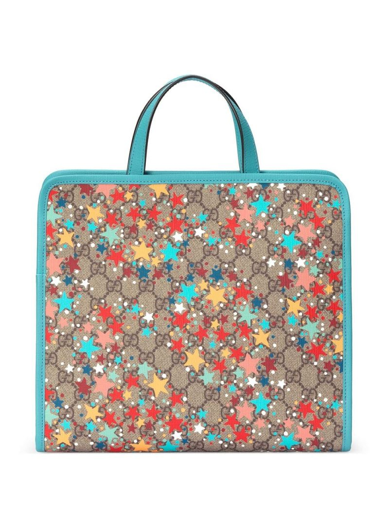 GUCCI CHILDREN: stars print GG Supreme canvas handbag Color Multicolor_1