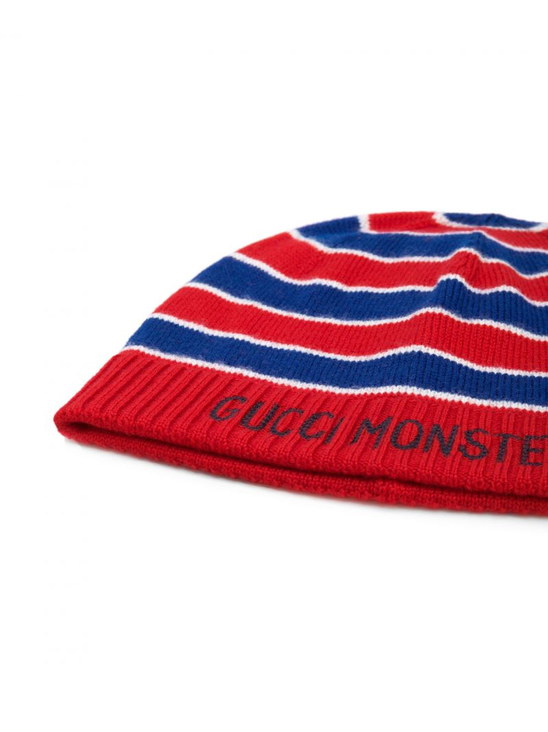 GUCCI CHILDREN: wool beanie with Gucci Monsters intarsia Color Multicolor_2