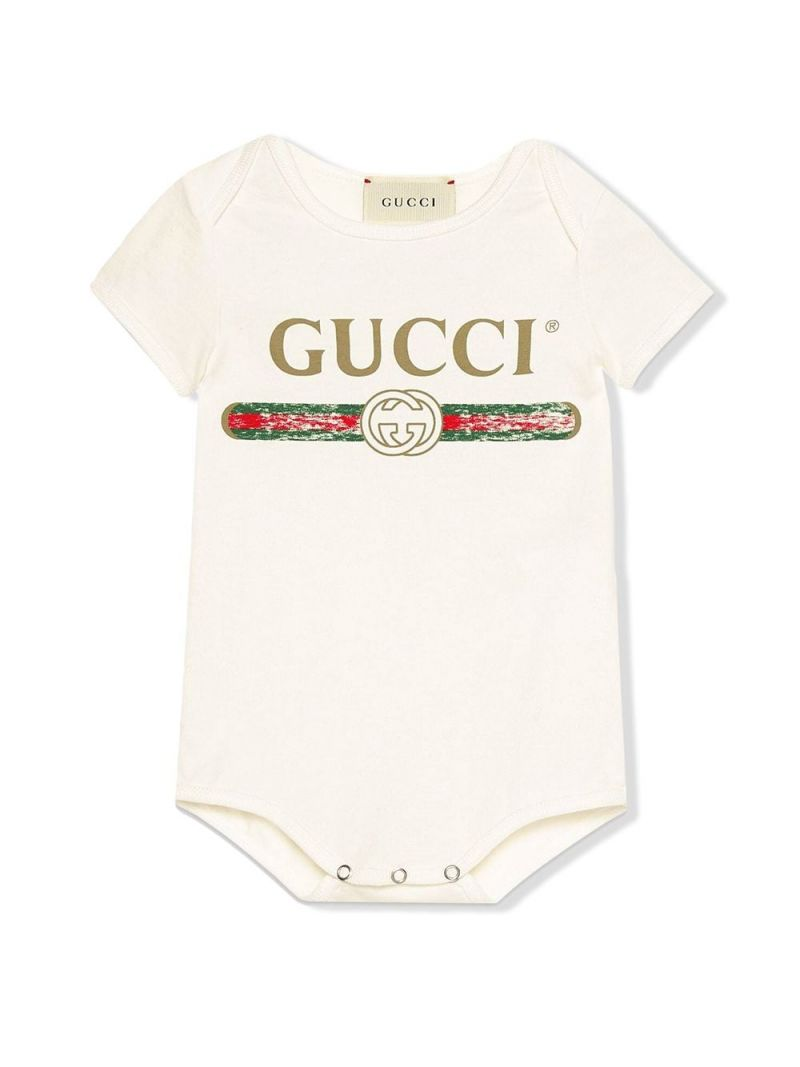 GUCCI CHILDREN: Gucci vintage print cotton gift set Color Multicolor_1