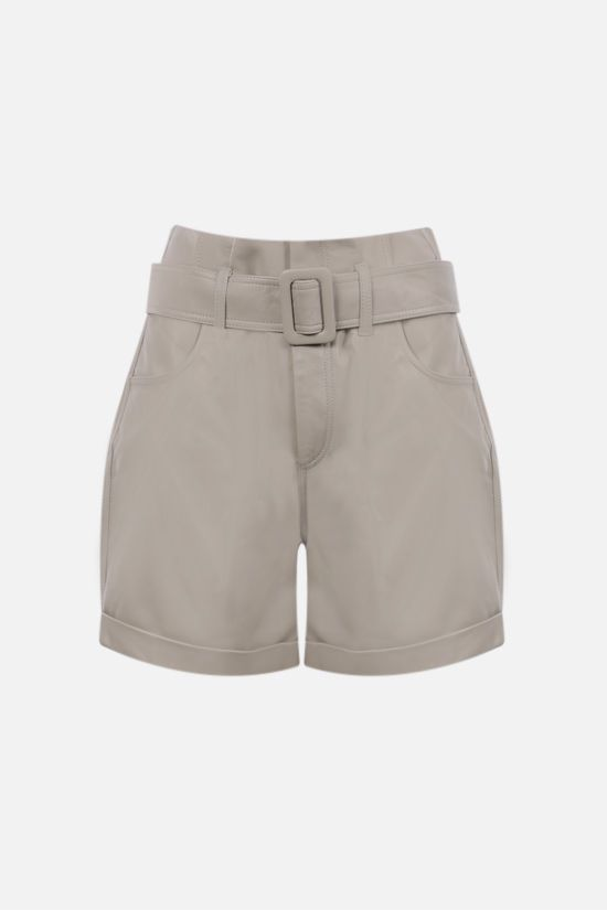 FEDERICA TOSI: soft nappa high-waist shorts Color Neutral_1
