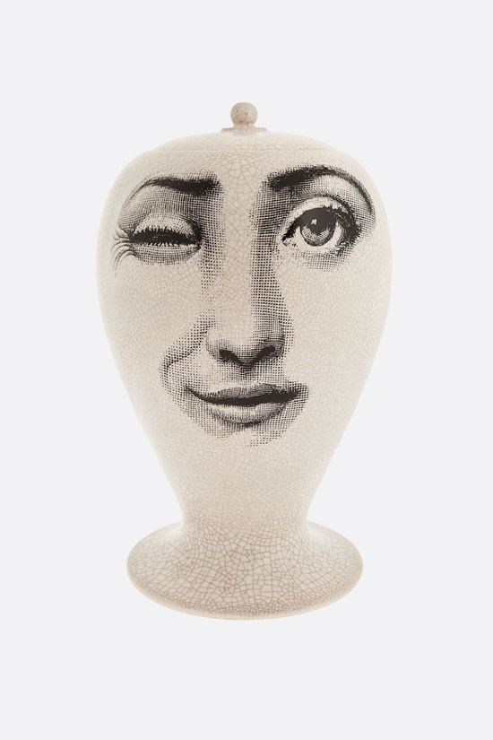 FORNASETTI: Antipatico craquelè ceramic vase Color Black_2