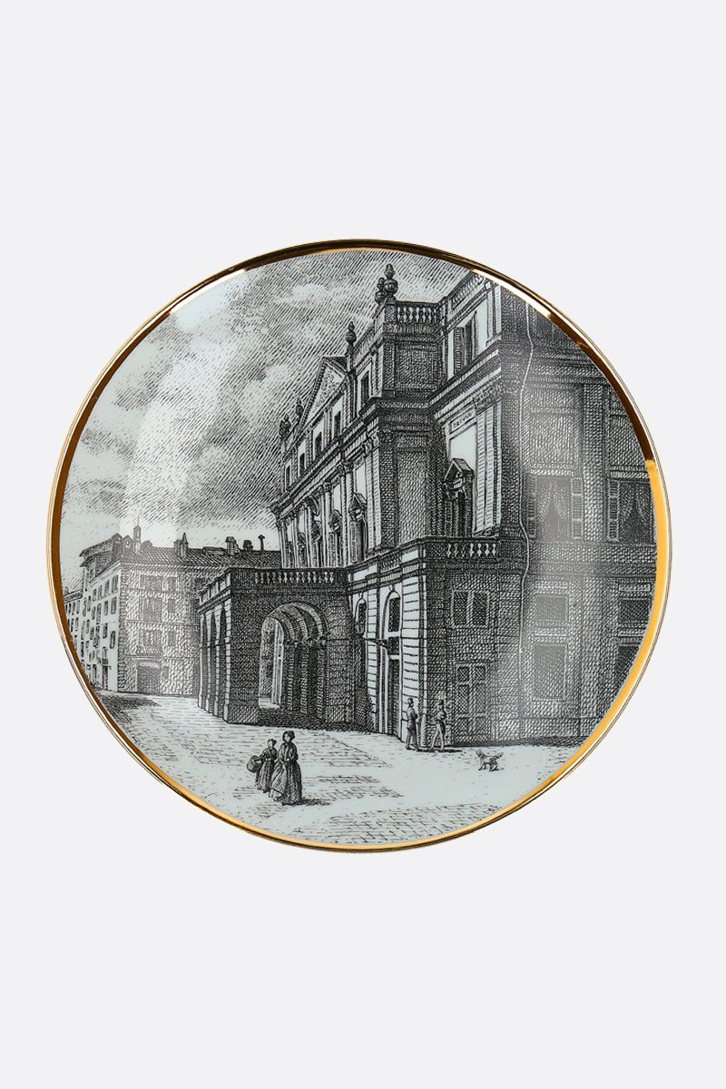 FORNASETTI: Teatro alla Scala ceramic wall plate Color White_1