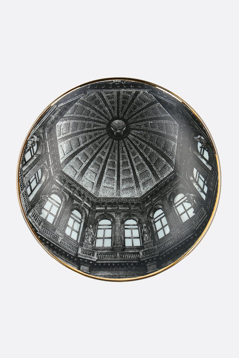 FORNASETTI: Cupola S.M. Salute ceramic wall plate Color White_1