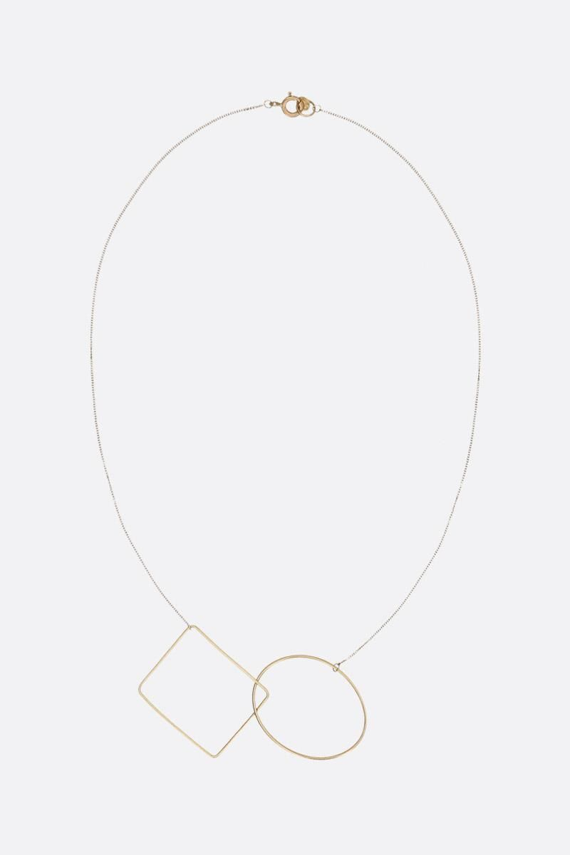 LIA DI GREGORIO: Ovale Rettangolo yellow gold necklace Color Yellow_1