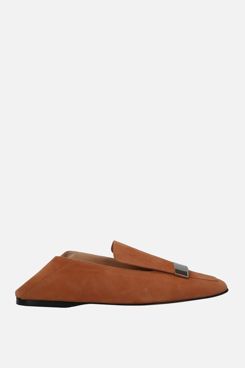 SERGIO ROSSI: sr1 suede slippers Color Brown_2