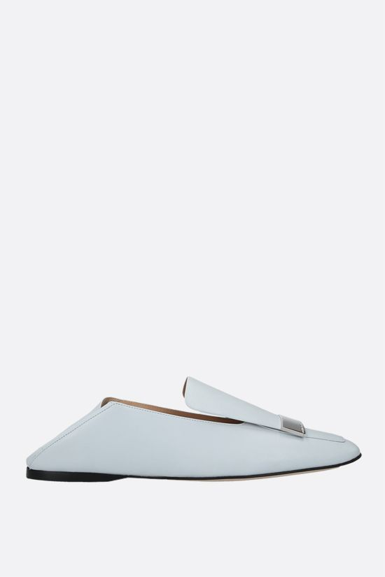 SERGIO ROSSI: sr1 soft nappa slippers Color Grey_2