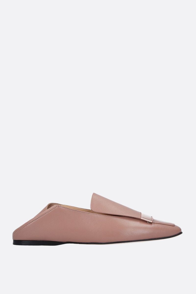 SERGIO ROSSI: sr1 soft nappa slippers Color Neutral_2