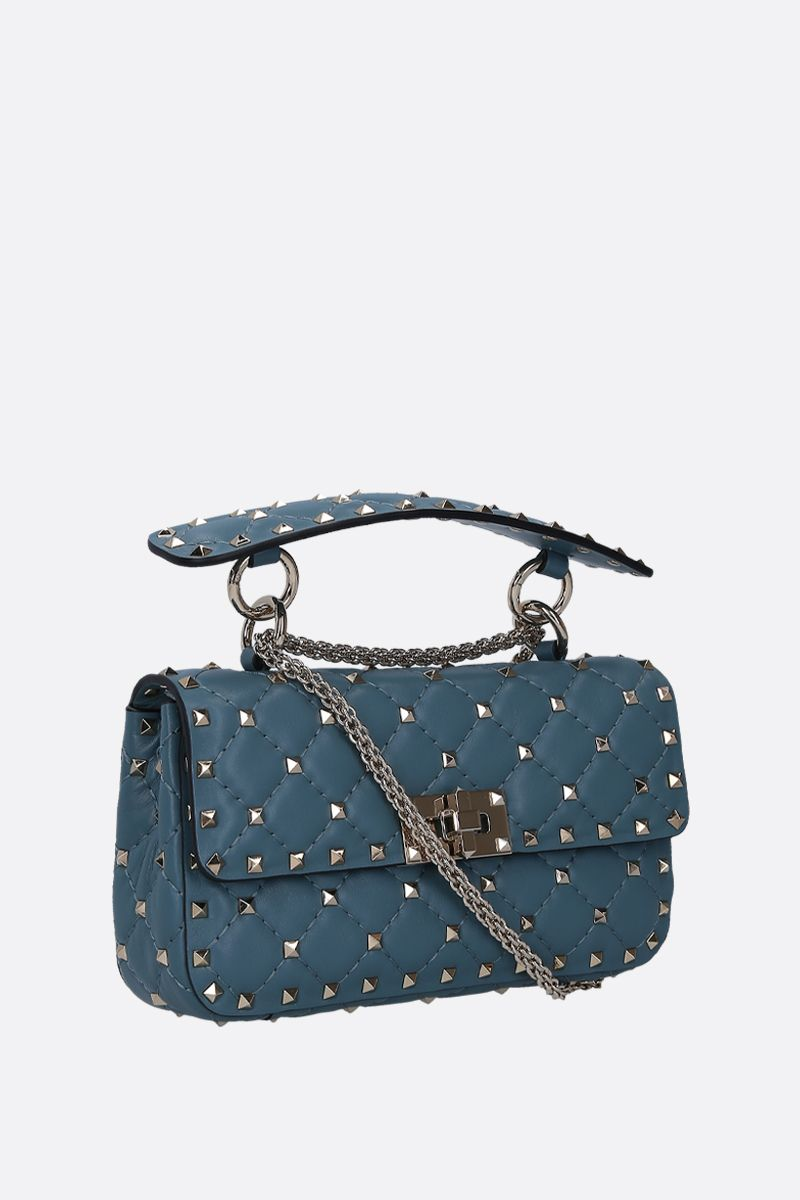 VALENTINO GARAVANI: Rockstud Spike small chain bag in quilted nappa_2