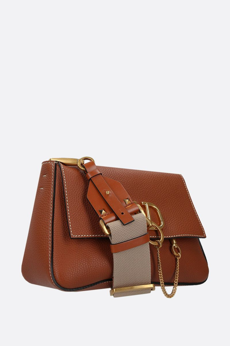 VALENTINO GARAVANI: VRING small shoulder bag in grainy leather_2