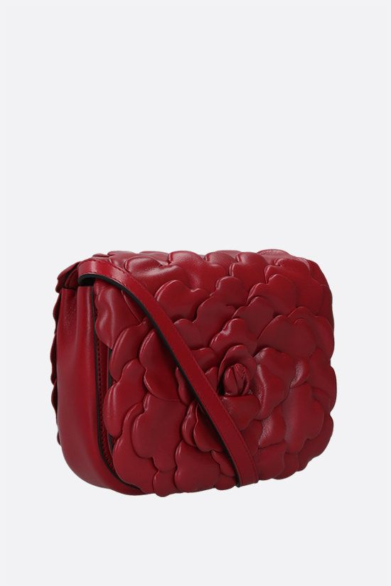 VALENTINO GARAVANI: Atelier Bag 03 Rose Edition small smooth leather shoulder bag Color Red_2
