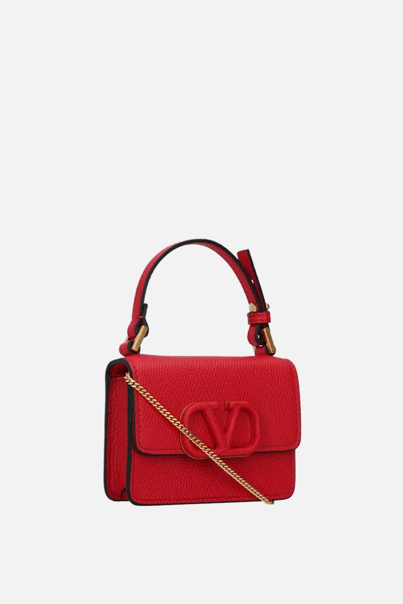 VALENTINO GARAVANI: VSLING grainy leather chain wallet Color Red_2