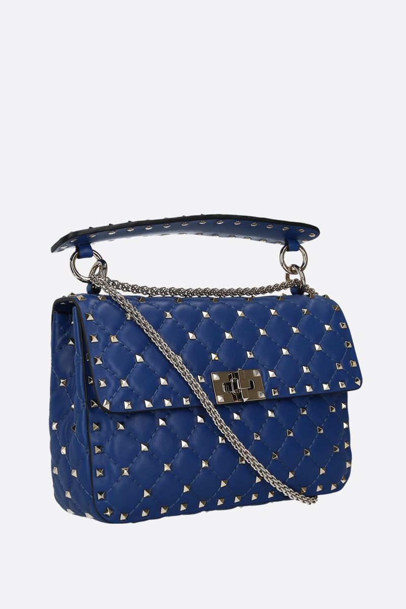 VALENTINO GARAVANI: Rockstud Spike medium quilted nappa crossbody bag_2