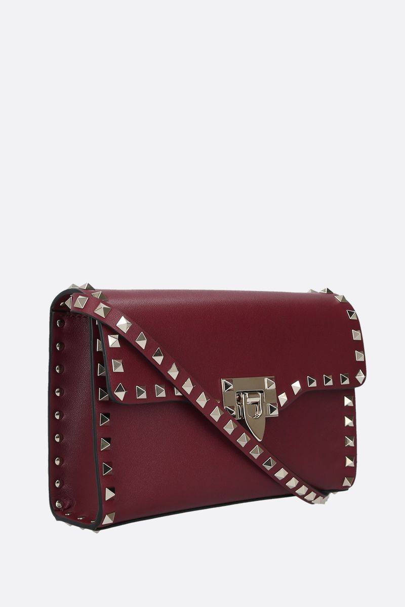 VALENTINO GARAVANI: Rockstud small smooth leather shoulder bag Color Red_2