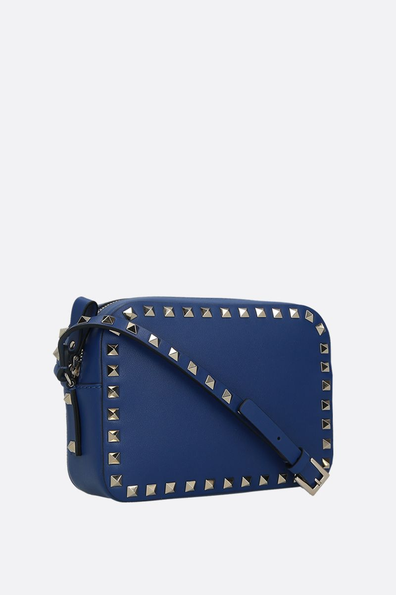 VALENTINO GARAVANI: Rockstud small smooth leather camera bag_2