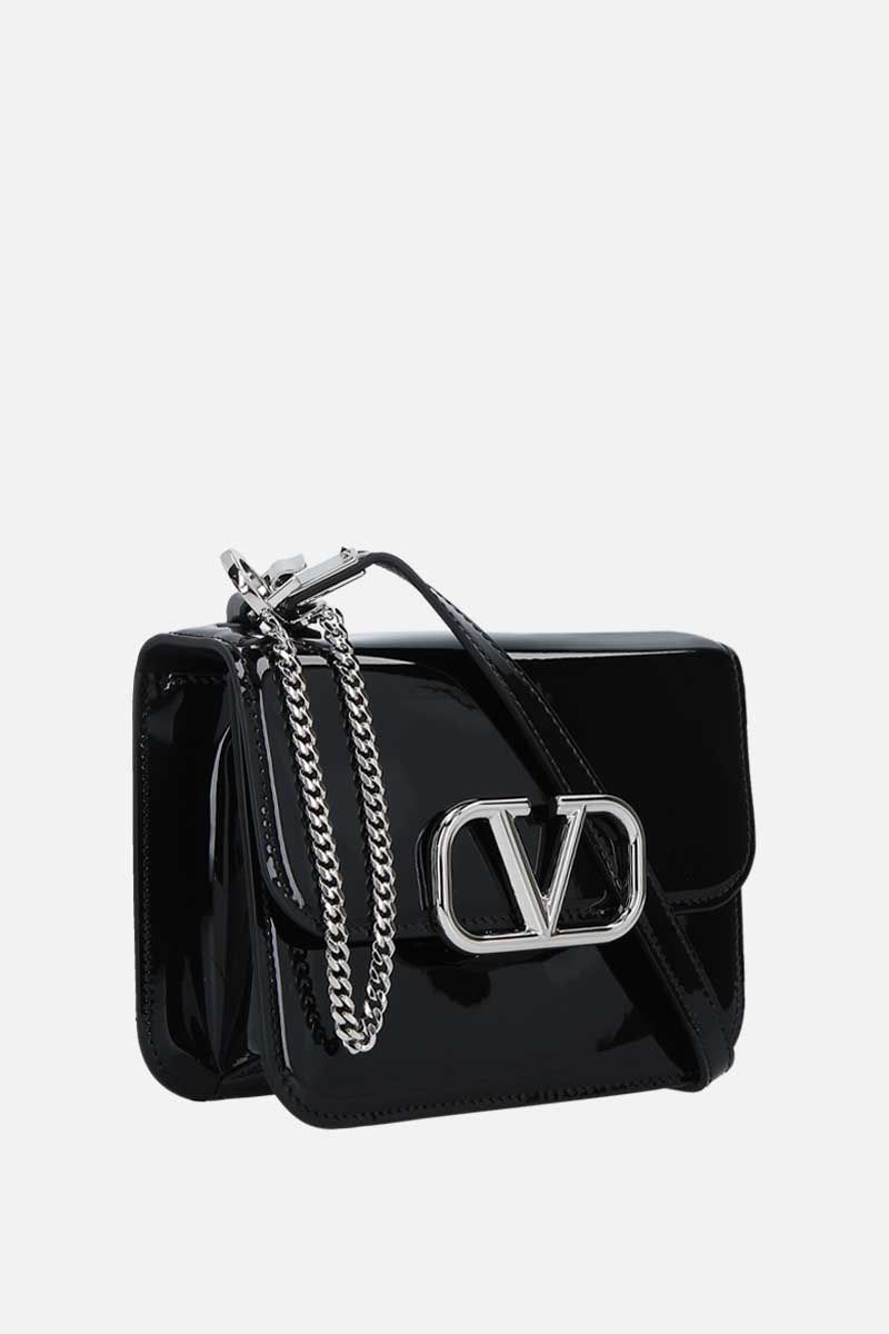 VALENTINO GARAVANI: VSLING small patent leather shoulder bag Color Black_2