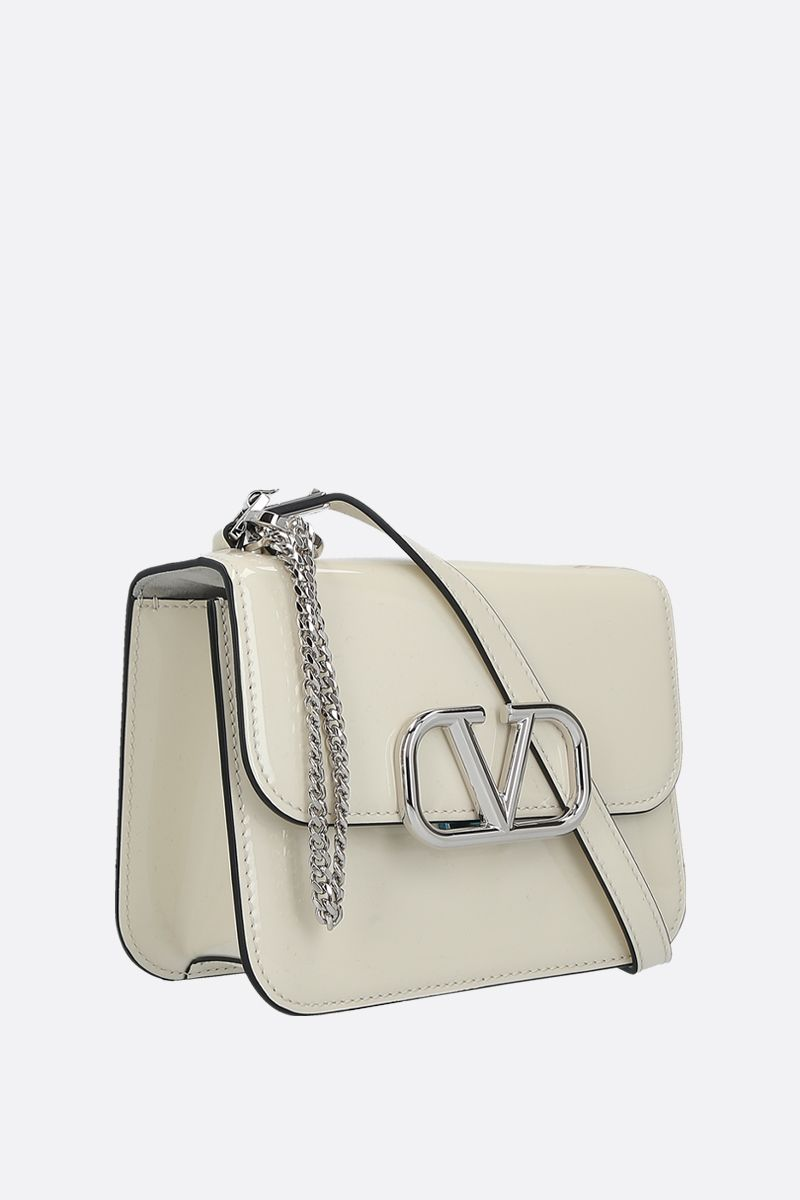 VALENTINO GARAVANI: VSLING small patent leather shoulder bag Color Neutral_2