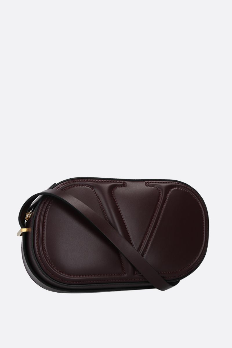 VALENTINO GARAVANI: VLOGO WALK shiny leather camera bag Color Red_2