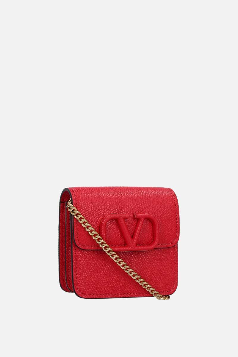 VALENTINO GARAVANI: VSLING grainy leather chain wallet_2