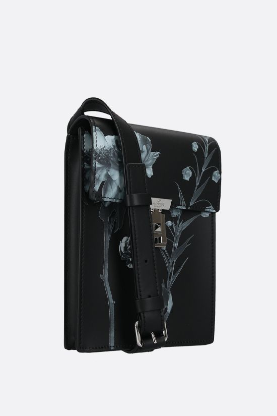 VALENTINO GARAVANI: Flowersity smooth leather crossbody bag Color Black_2