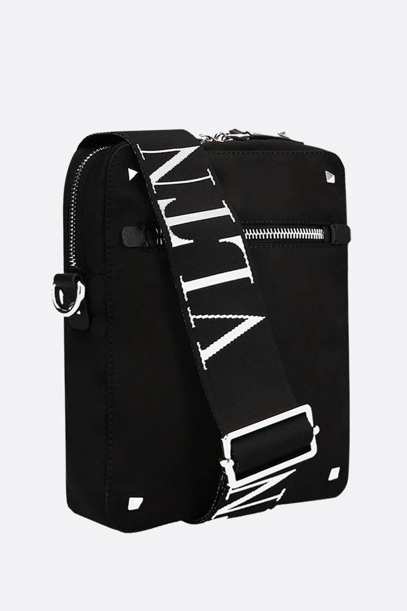 VALENTINO GARAVANI: VLTN nylon crossbody bag Color Black_2