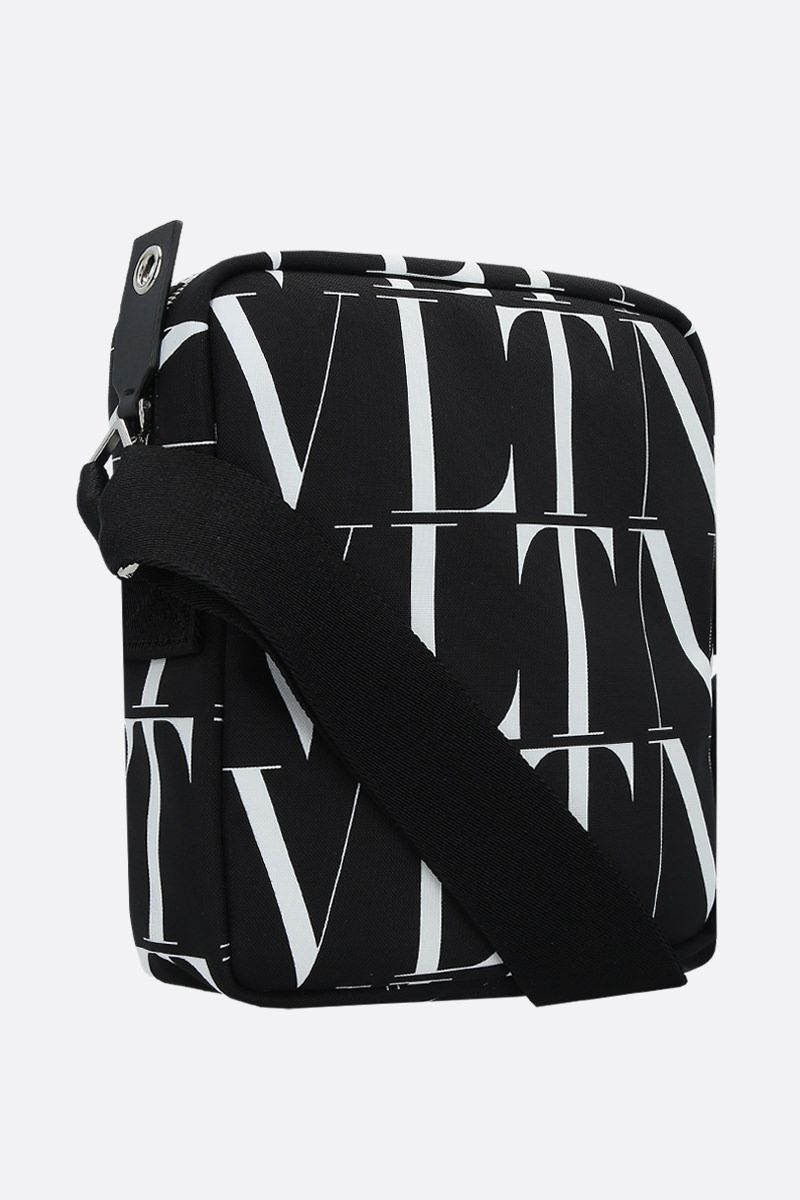 VALENTINO GARAVANI: VLTN TIMES nylon messenger bag Color Black_2