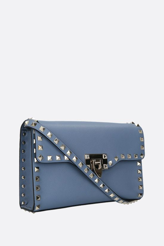 VALENTINO GARAVANI: Rockstud small smooth leather shoulder bag Color Blue_2