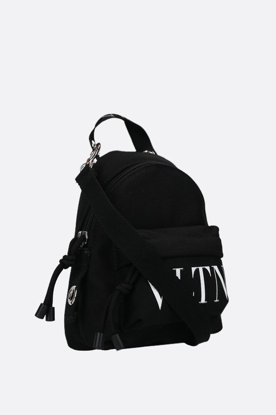 VALENTINO GARAVANI: VLTN mini nylon backpack Color Black_2