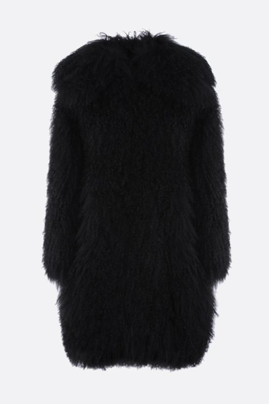 ALAIA: Tibetano lamb fur coat Color Black_1